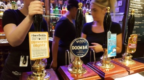 Blisworth Blighty, Craft Cider, Doombar beer, Real Ale, Pump clip
