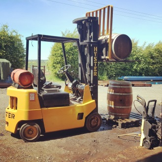 Forklift barrels craft cider