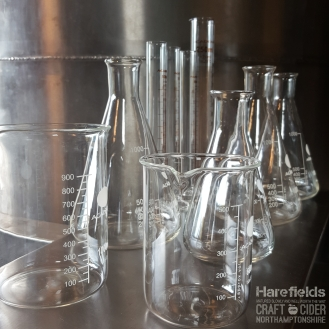 Cider Laboratory glass, lab, Harefields